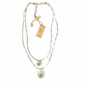 UNO de 50 sliver plated 2 strand blue necklace
